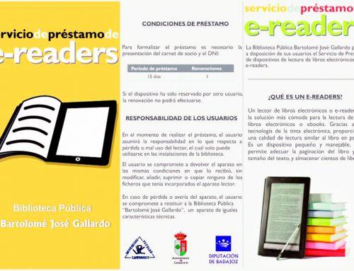 Servicio de préstamo de libros electrónicos (e-readers) y libros en formato digital