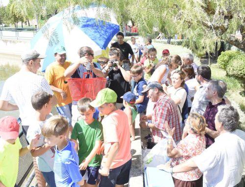 Juan Franco Díaz, consiguió la mejor captura en el concurso de pesca infantil