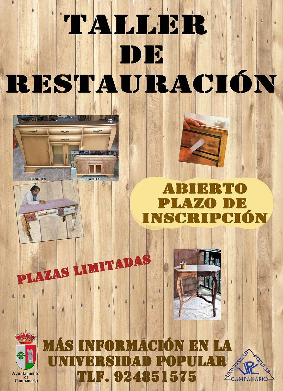 Taller de restauraci n de muebles ayuntamiento de campanario for Clases de restauracion de muebles