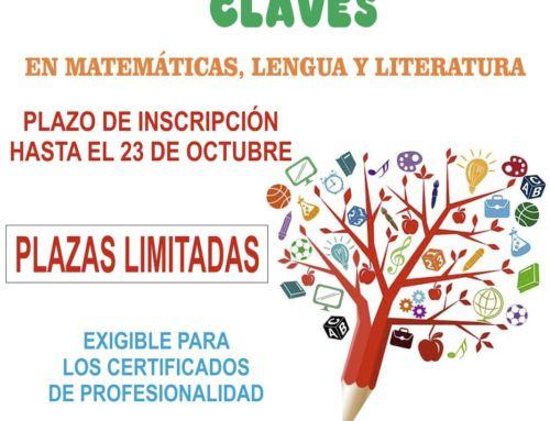 El Ayuntamiento abre una nueva convocatoria para lapreparación en Competencias Clave en matemáticas, lengua y literatura