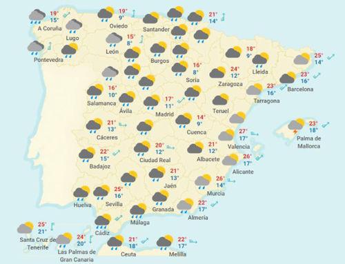 Previsión meteorológica para la próxima semana en Extremadura