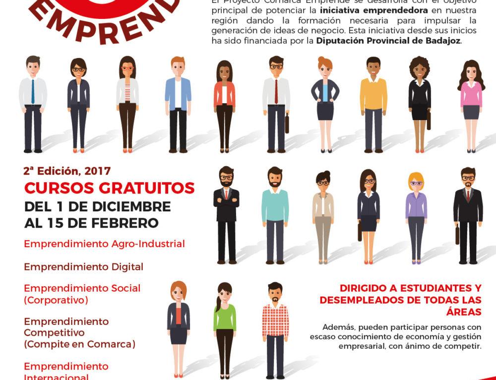 II Proyecto Comarca Emprende: formación empresarial gratuita a estudiantes y desempleados