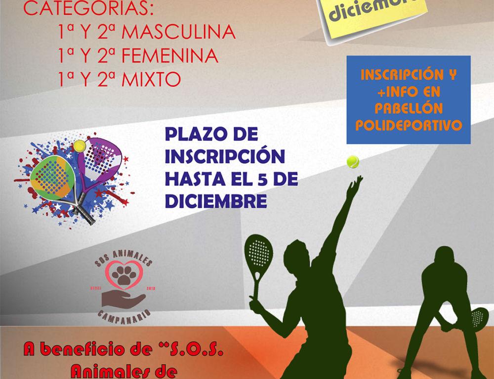 Campanario acoge el V Torneo Solidario de pádel