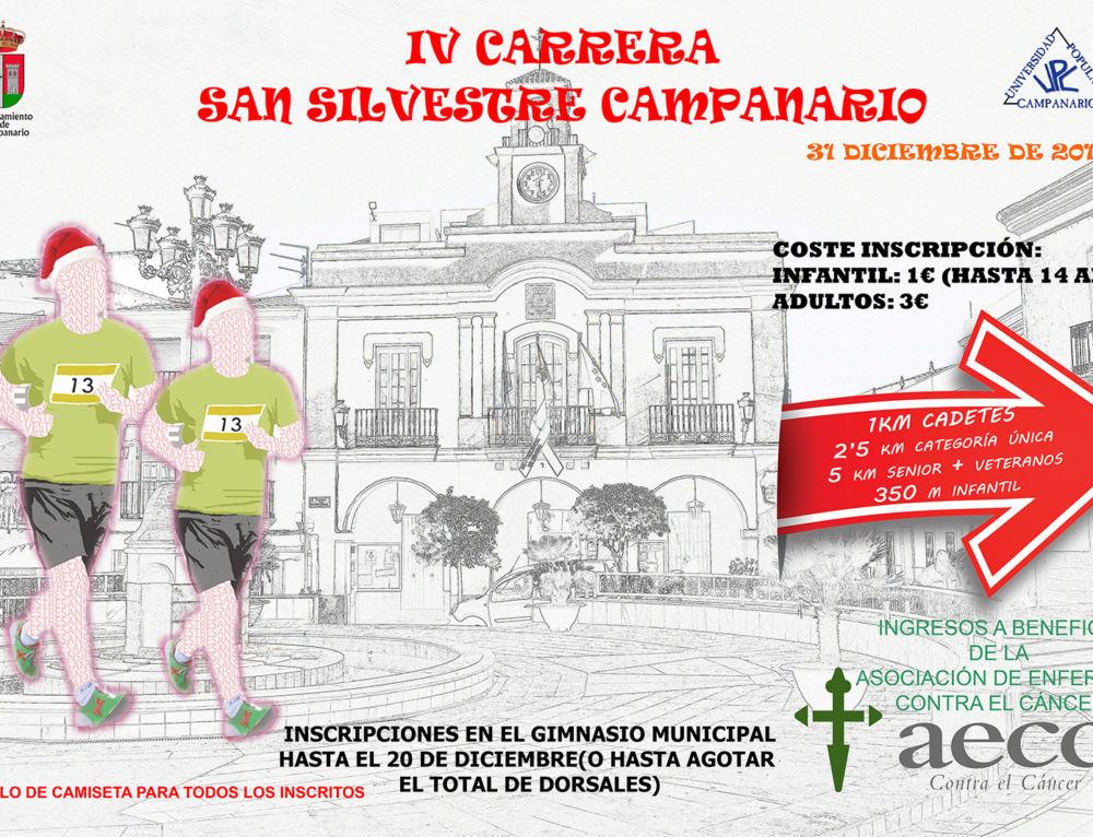 La carrera San Silvestre de Campanario se celebra el 31 de diciembre