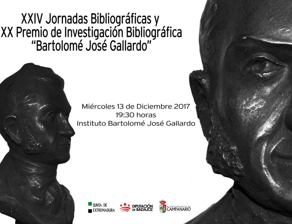 """XX Premio de Investigación Bibliográfica """"Bartolomé José Gallardo"""""""