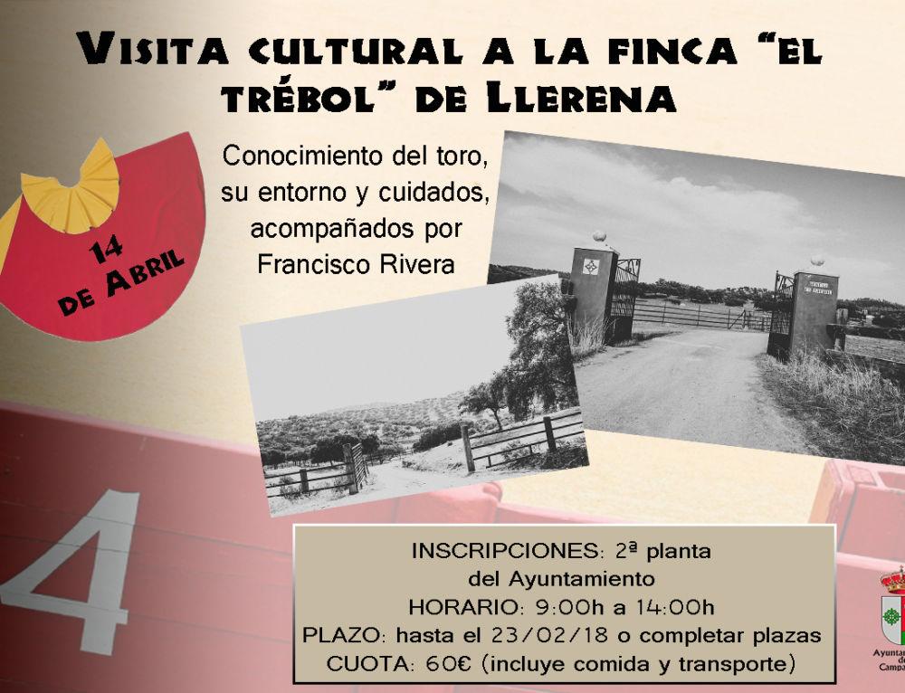 """Visita cultural a la finca """"El Trébol"""" de Llerena"""