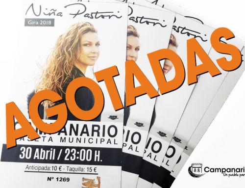 Agotadas las entradas para el concierto de Niña Pastori el 30 de abril en Campanario