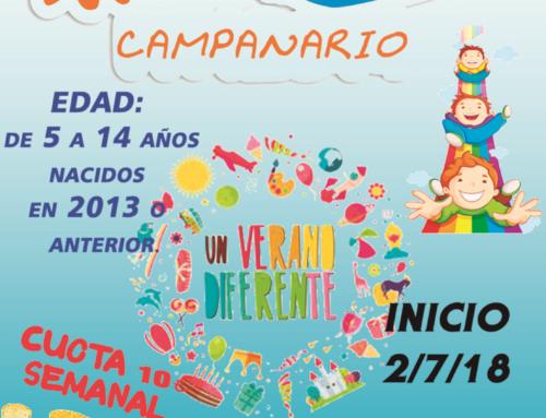 Abierto el plazo de inscripción para el Campamento de Verano 2018
