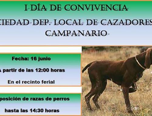 Convivencia de la sociedad de cazadores de Campanario, mañana sábado