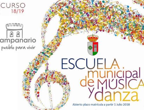 "Matrícula Escuela Municipal de Música ""Fidel Santana"" – Curso 2018/2019"