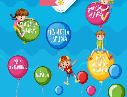Fiesta refrescante para el público infantil en el Parque de la Constitución