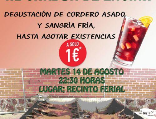La Feria de Agosto repetirá la degustación de un cordero asado
