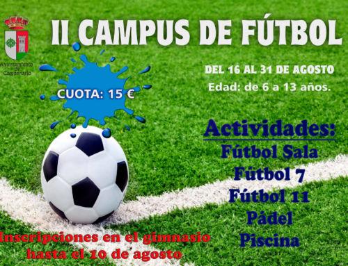 Llega la II edición del Campus de Fútbol de verano