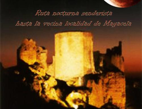 Ruta senderista nocturna a Magacela para disfrutar de la luna llena de agosto