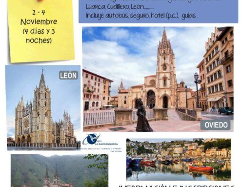 El Ayuntamiento organiza un viaje a Asturias en noviembre