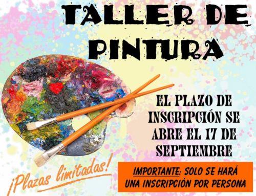 Taller de Pintura: el 17 de septiembre se abre el plazo de inscripción