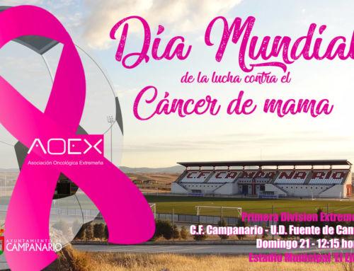 Ayuntamiento, C.F. Campanario y AOEX, unidos contra el cáncer de mama