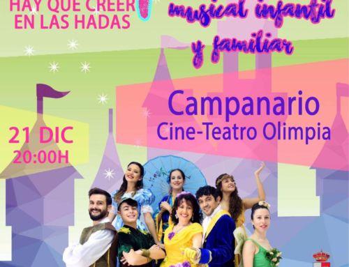 El Teatro Olimpia acoge el musical infantil y navideño 'Campanilla'