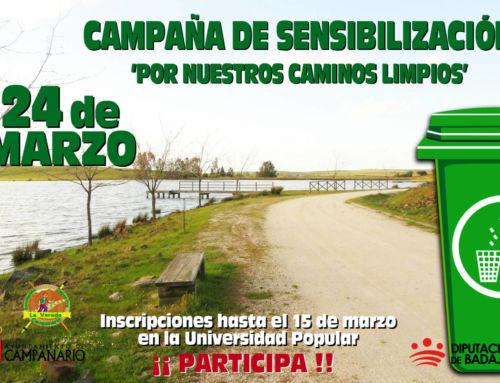 Campaña de sensibilización 'Por nuestros caminos limpios'
