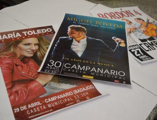 Entradas a la venta para Miguel Poveda y María Toledo. Bordón 4 gratis.