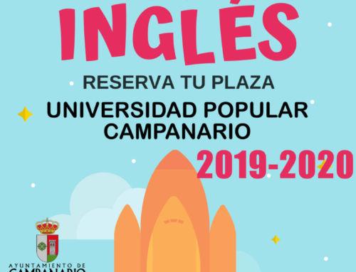 Abierta la preinscripción para el curso de inglés del Centro Local de Idiomas