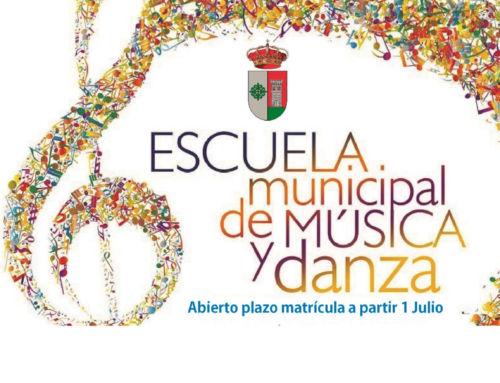 "Matrícula Escuela Municipal de Música ""Fidel Santana"" – Curso 2019/2020"