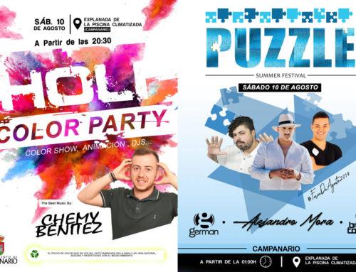 Fiesta Holi y Puzzle Summer Festival para el sábado más juvenil de la Feria de Agosto