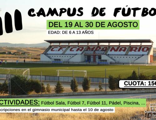En marcha el III Campus de fútbol de verano