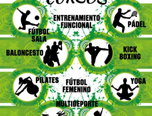 Cursos deportivos municipales 2019/2020: el 16 de septiembre se abre la inscripción