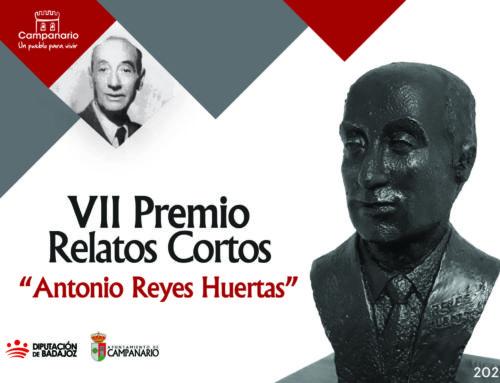 VII Premio Literario 'Antonio Reyes Huertas': ampliación del plazo de presentación