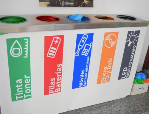 Promedio instala en el Ayuntamiento un punto limpio para pilas y otros tipos de residuos