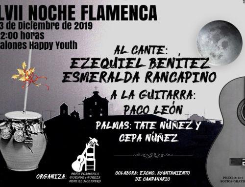 Ezequiel Benítez y la nieta de Rancapino en la LVII Noche Flamenca de Campanario