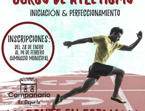 El Ayuntamiento oferta un curso de atletismo