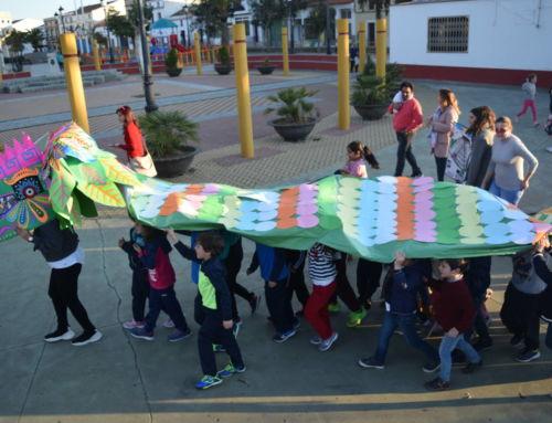 Manualidades y una colorida serpiente mexicana en el Taller del Carnaval 2020