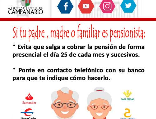 Alternativas a los jubilados para que no acudan a la oficina a cobrar la pensión