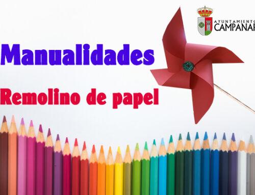 Manualidad para los más pequeños: Remolino de papel