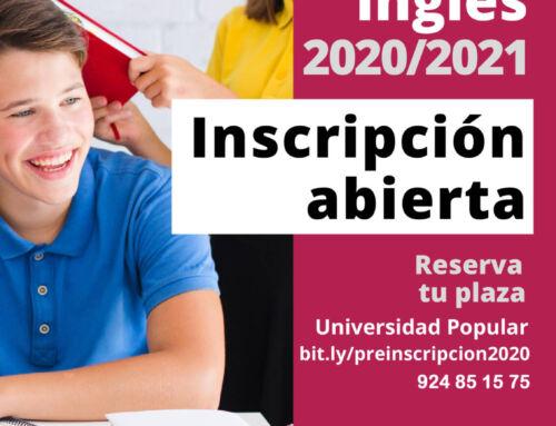 Centro Local de Idiomas de Campanario: Abierta la preinscripción para el curso de inglés 2020/21