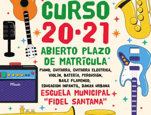 "Matrícula Escuela Municipal de Música ""Fidel Santana"" – Curso 2020/2021"