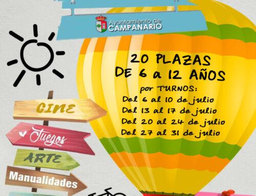 El Ayuntamiento organiza un campamento de verano infantil y juvenil para el mes de julio