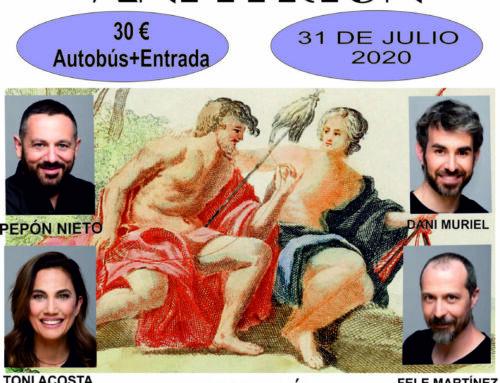 El Ayuntamiento organiza un viaje para ver la obra 'Anfitrión' del Festival Internacional de Teatro Clásico de Mérida