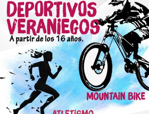 Cursos de mountain bike y atletismo para mayores de 16 años