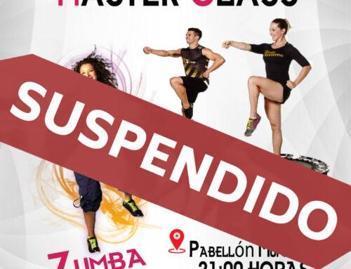 Suspendida la Master Class gratuita de Zumba y Body Jump