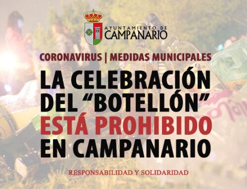 Prohibidos los botellones o cualquier celebración que no esté autorizada en Campanario