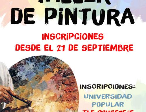 Taller de Pintura: el 21 de septiembre se abre el plazo de inscripción