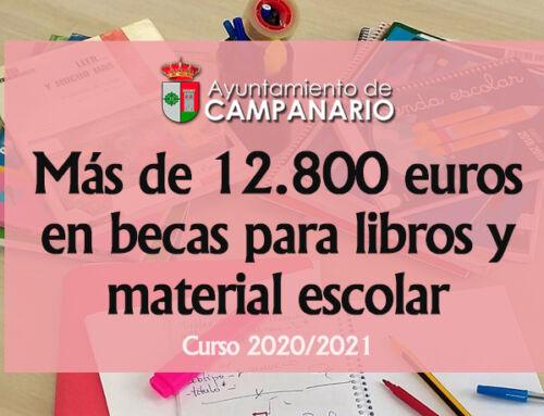 El Ayuntamiento destina más de 12.800 euros en becas para libros y material escolar