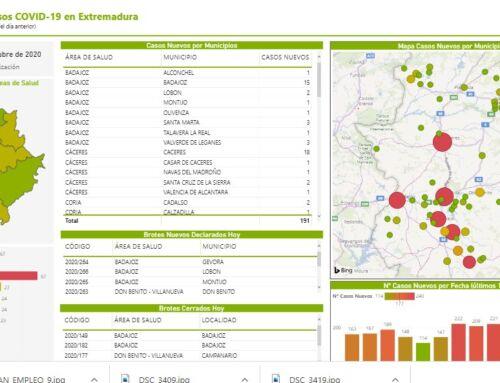 La Junta de Extremadura pone a disposición de los ciudadanos el mapa diario de casos de Covid-19
