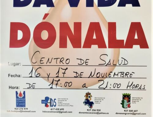 Campaña donación de sangre en Campanario: 16 y 17 de noviembre