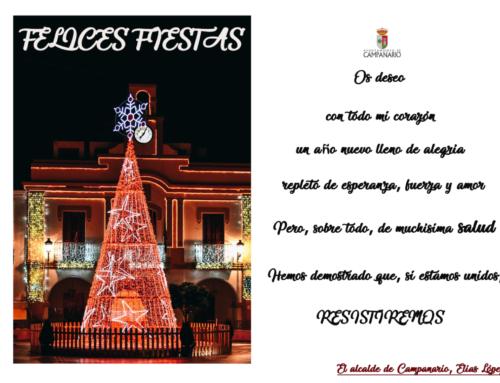 El Ayuntamiento os desea Felices Fiestas y Feliz 2021