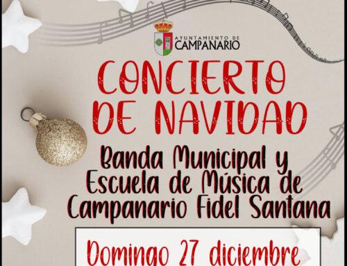 La Banda Municipal y la Escuela de Música ofrecerán su concierto de Navidad en el Pabellón