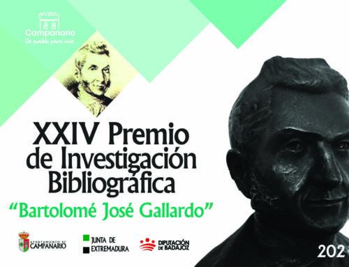 XXIV Premio Bartolomé J. Gallardo: abierto el plazo para presentar trabajos de investigación